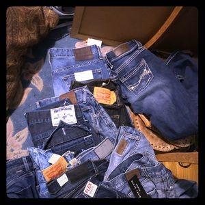 Blue jeans denim jeans
